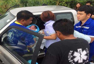 คอหวยรีบจด! สาวท้องแก่คลอดลูกบนรถกระบะ ทะเบียนนี้ดูกันไว้เลย